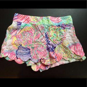 Lily Pulitzer scalloped shorts | M | multi color